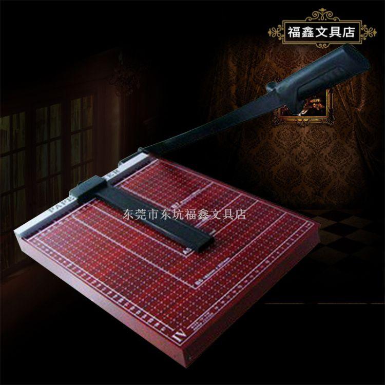 厂家供应 立巧木板材质828-2裁纸刀 红色18*15寸切纸刀 可批发
