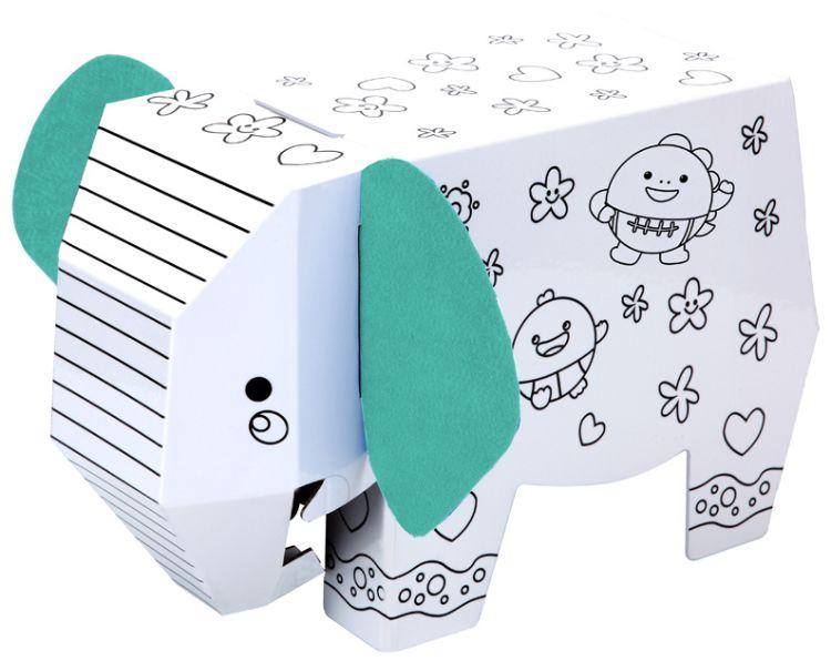动物造形 幼儿园亲子益智玩具 儿童DIY 立体拼图智力开发手绘涂鸦