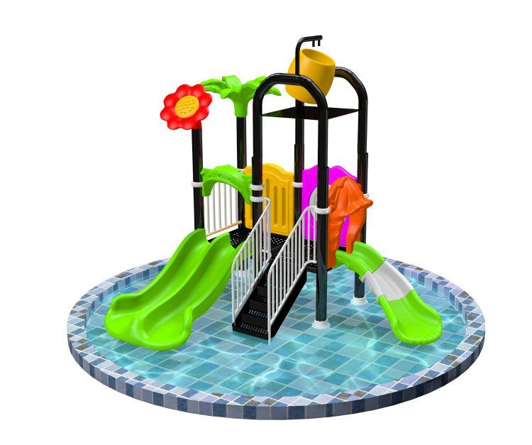 水上滑滑梯  批发儿童水上乐园  游泳池玩具设施  户外大型喷水滑梯定做