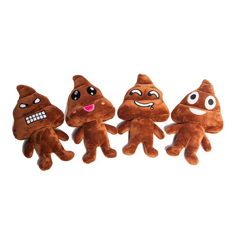 新款时尚表情包趣怪毛绒玩具公仔 大便人喜怒色乐生日礼物玩偶