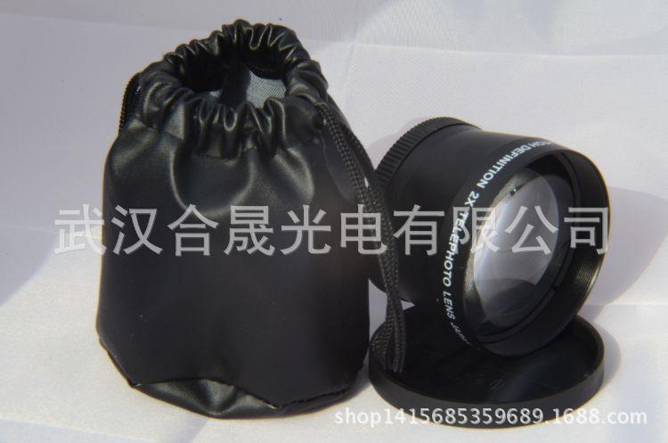 2X  2倍58MM增距镜头UV口径62MM附加镜头可OEM