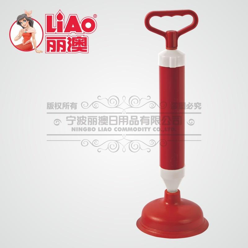 丽澳/LIAO 强力高压马桶疏通器 气筒式一炮通厕所清洁管道吸批发