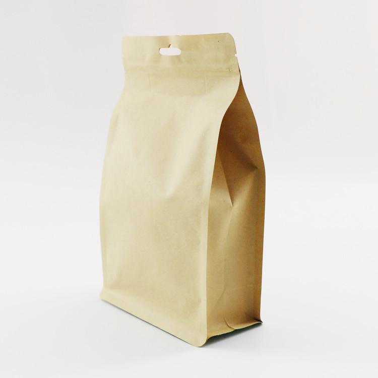 自立拉链袋 厂家定制自封牛皮纸食品袋 八边封包装袋