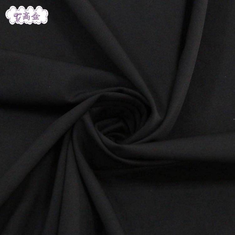 直销GJ4173服装家纺涤氨空气层面料 运动健身瑜伽服弹力黑色面料