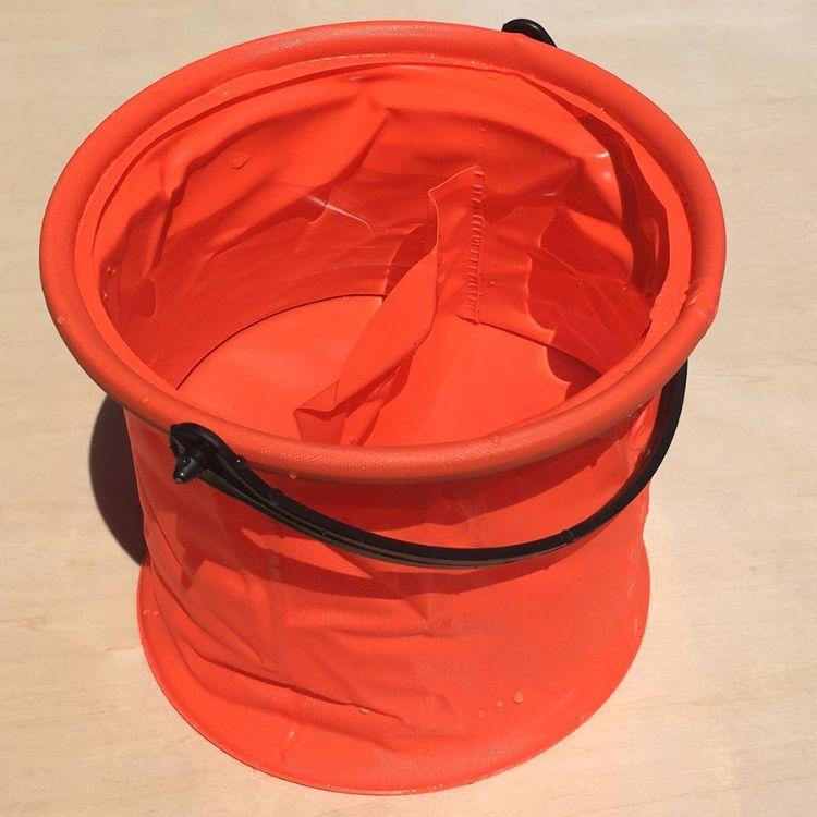 绘画用品小号折叠隔层洗笔水桶 美术绘画水彩水粉塑胶伸缩涮笔筒