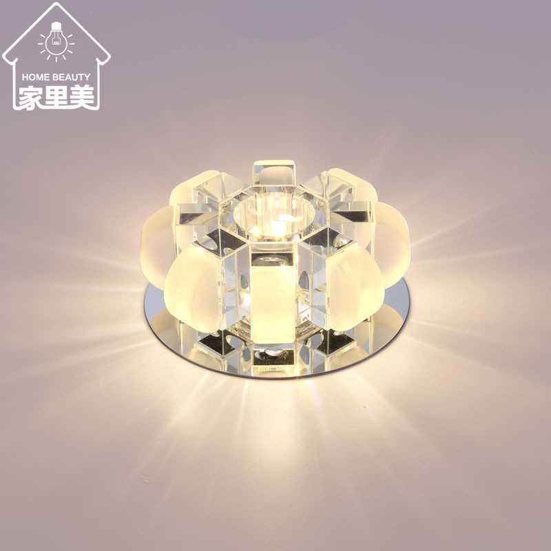 工厂直销现代led水晶灯过道灯 走廊玄关门厅灯 吸顶灯南瓜灯饰