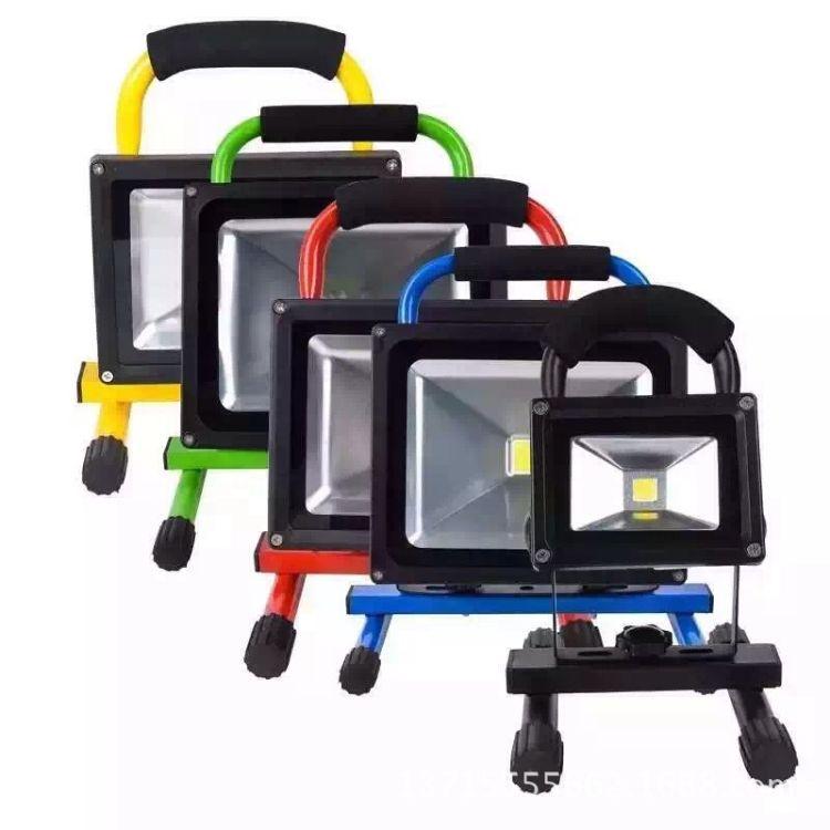 led充电泛光灯移动便携式 户外探照灯 钓鱼灯 家居应急灯 露营灯