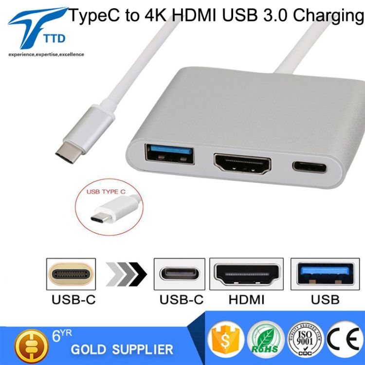 Type-c To Hdmi USB高清转接线type-c转hdmi HUB Macbook转换器4K