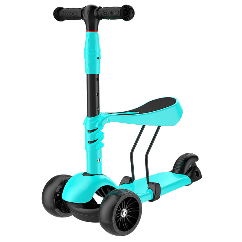 新款儿童滑板车3轮闪光溜溜车大号男女喷雾划板踏板车初学者