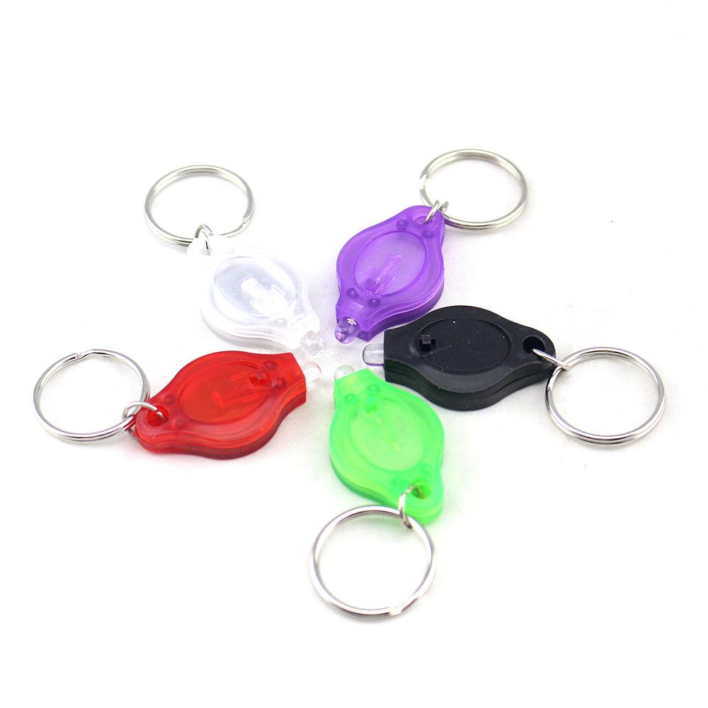 野营迷你强光小手电 户外LED灯佩戴钥匙圈钥匙链求生手电筒 直销