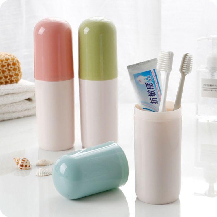 便携式塑料牙刷杯 旅行漱口杯刷牙杯牙具收纳盒 家用洗漱杯牙刷盒