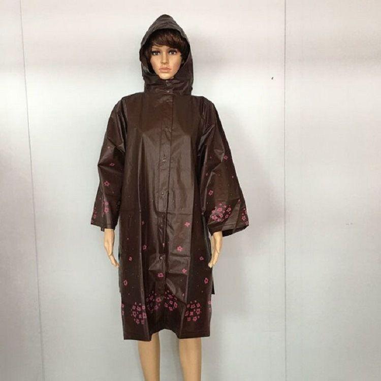 厂家专业生产 EVA成人带袖雨衣 摩托车单车连体雨衣 可定制