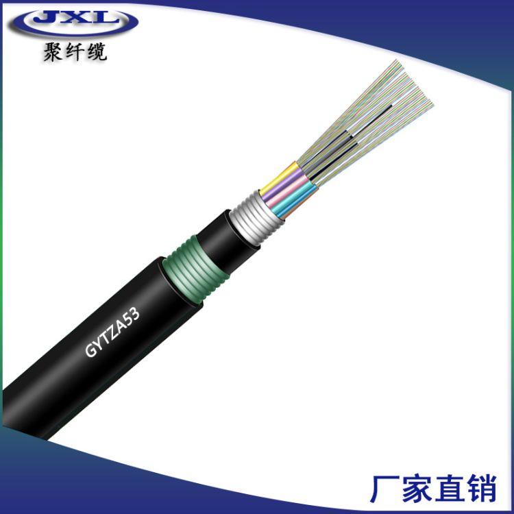 GYTZA-53-12芯阻燃地埋光缆 双铠双护套光缆 室外单模管道光纤