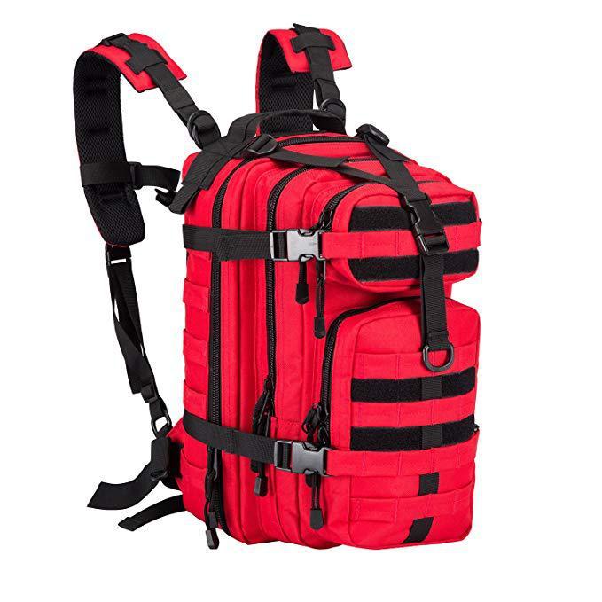 工厂定制户外迷彩双肩包军训防水登山包徒步野营双肩战术3P背包