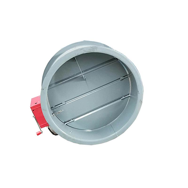 地下车库排烟防火阀280度 不锈钢电动对开多页密闭阀 电动调节阀