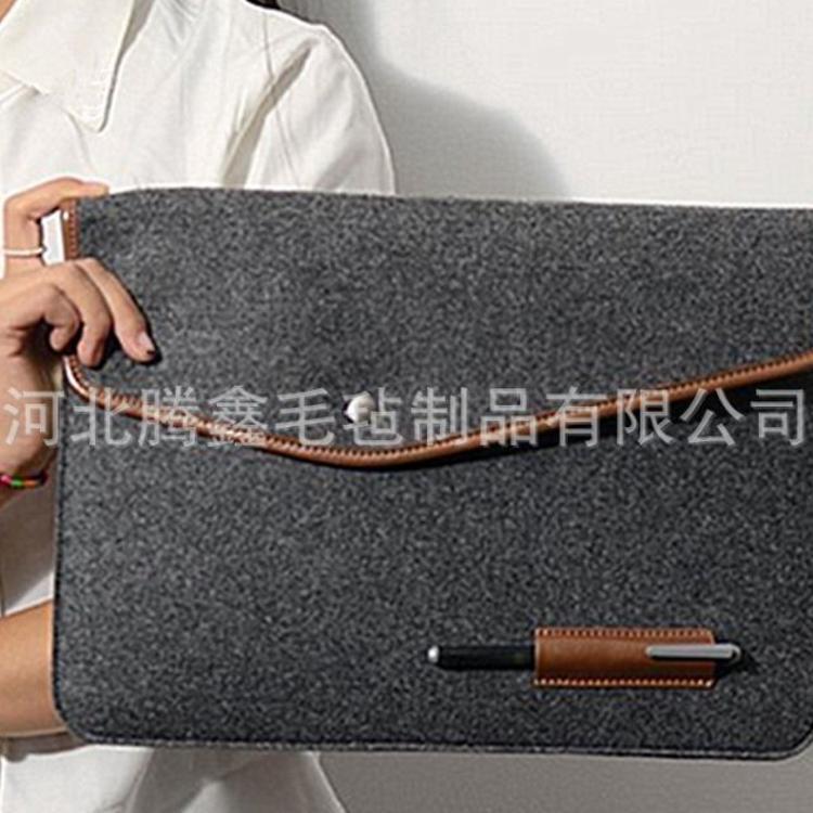 厂家定做环保新款惠普三星笔记本平板手拿毛毡布电脑包保护内胆套