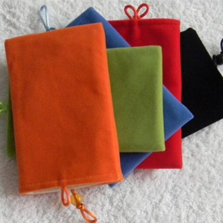 现货供应8*13双层绒布袋 移动电源袋 可做收纳礼品袋 特0.8元/个