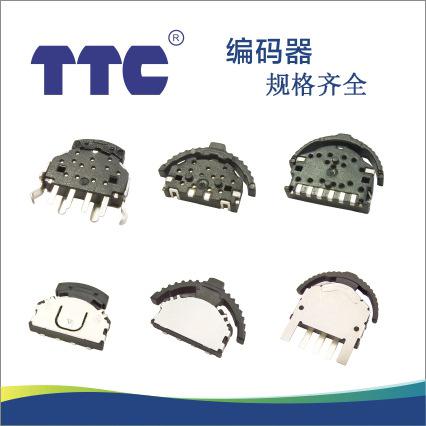 厂家直销 TTC绝缘轴带按键开关111编码器 旋转编码器规格齐全