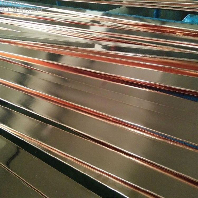 华野铜包钢扁钢50*5 镀铜扁钢 防雷接地线镀铜扁线厂家直销 铜包钢扁线
