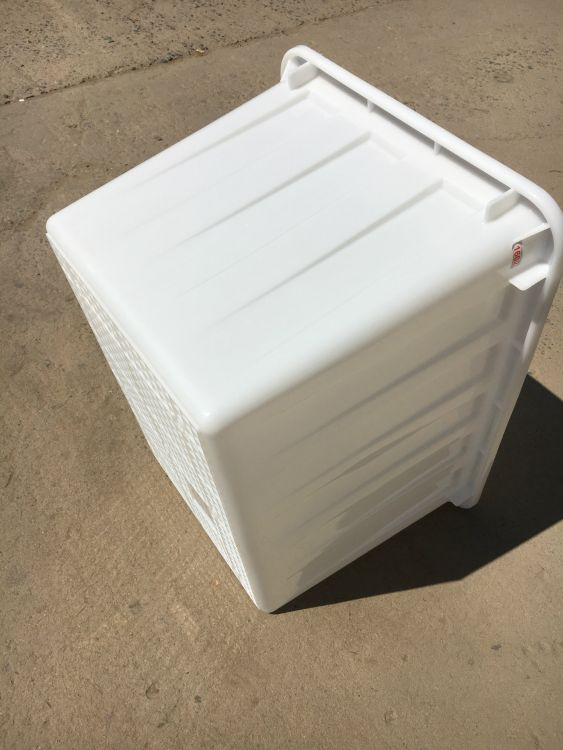 全新料滚塑水箱400升 加厚400L滚塑周转箱 全新料pp海产品运输箱