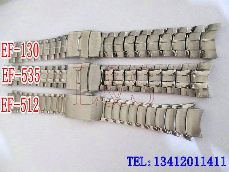 批发 适用于 EF-130 512 535D实心不锈钢钢带折叠扣手表链