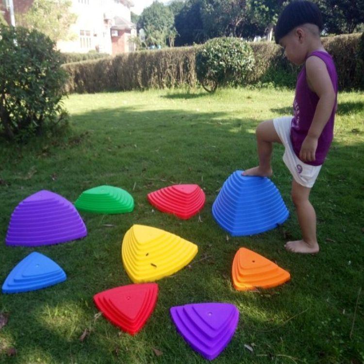 儿童感统训练早教感觉统合器材户外拓展多动症平衡协调踩踏过河石