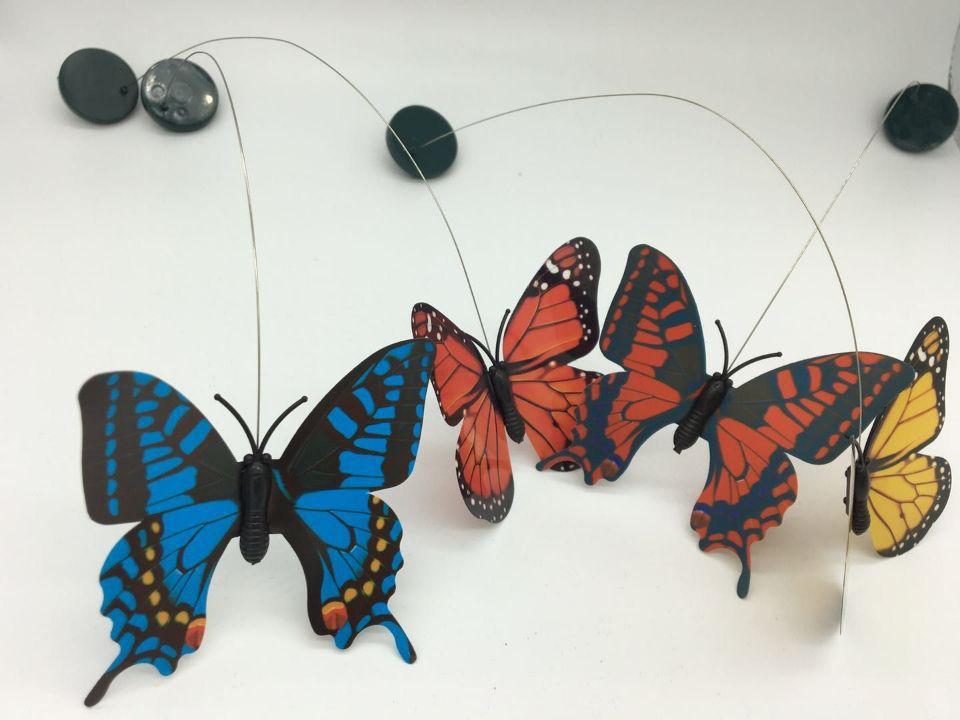 太阳能蝴蝶蜂鸟园艺田园商场店铺装饰玩具电动飞仿真蝴蝶