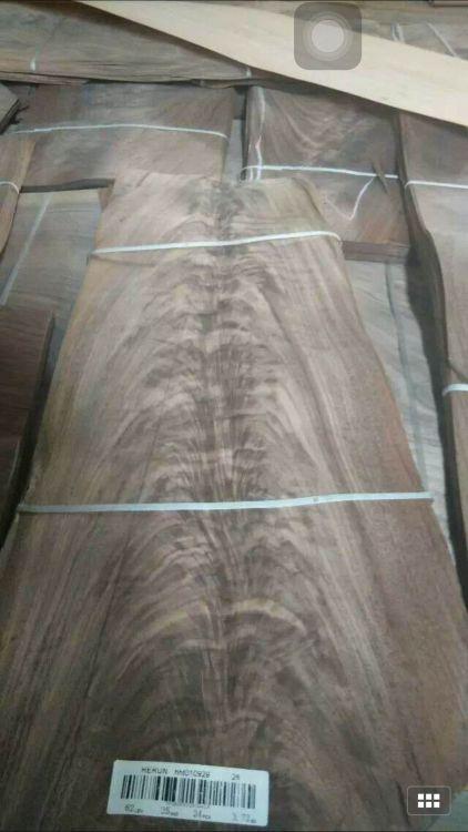 厂家直销天然黑胡桃木皮 家具装修可以定制 可做UV油漆木皮