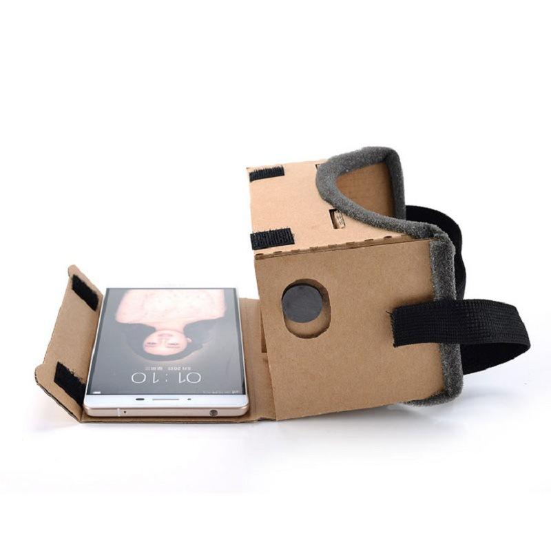 现货谷歌cardboard 纸盒vr眼镜头戴式3d虚拟现实纸质VR 手机魔镜