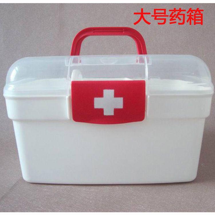 大号药箱手提家用医用箱便携多功能家庭急救药箱厂家直销礼品广告定制LOGO