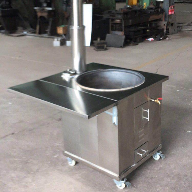 厂家直销家用户外做饭炉子柴火灶 可移动家用灶台不锈钢柴火灶