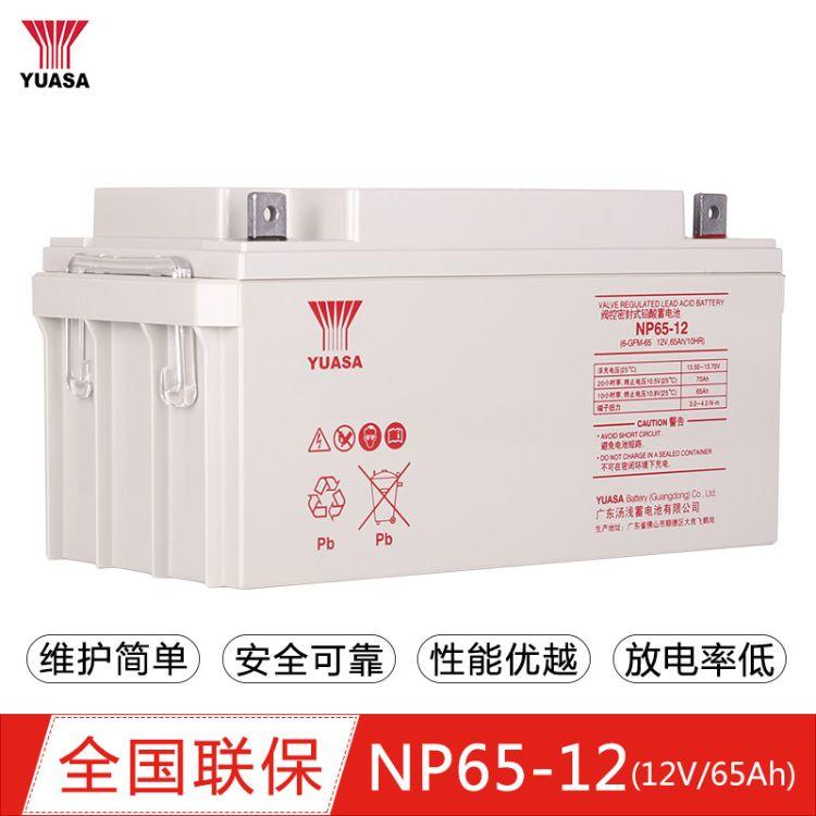 日本汤浅蓄电池NP65-12汤浅蓄电池12V65AH免维护护铅酸蓄电池