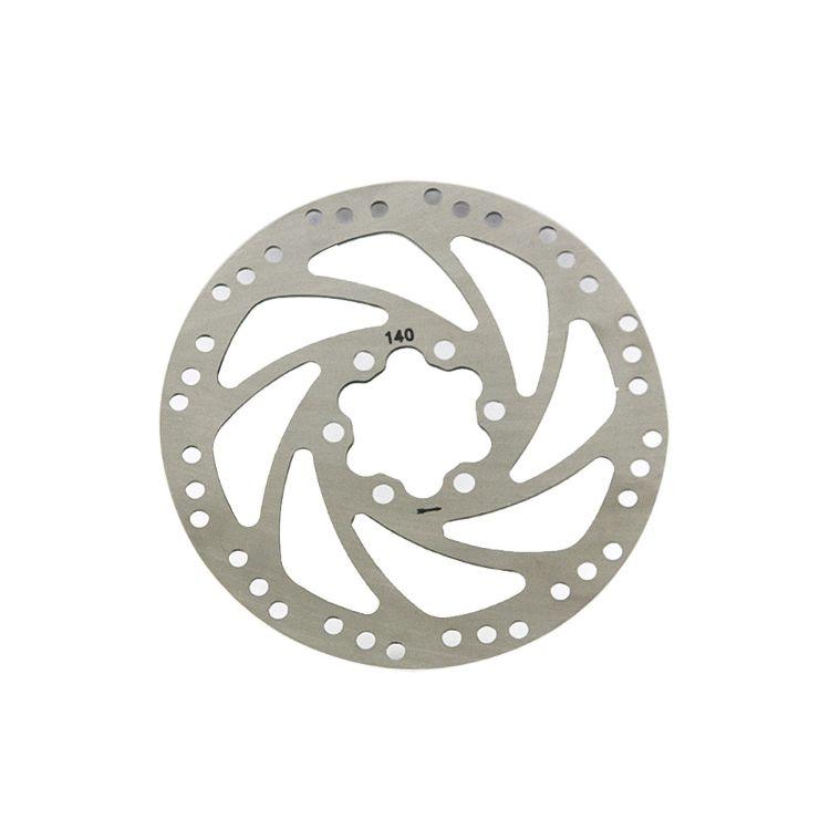 山地车碟刹盘片140mm自行车碟刹片对孔距离44mm折叠车碟刹器配件