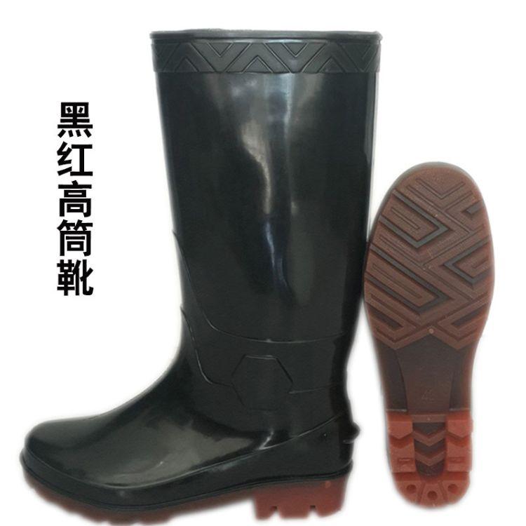 红诗雨雨鞋男水鞋雨靴男款防滑防水高筒中筒保暖加绒塑胶套鞋胶鞋