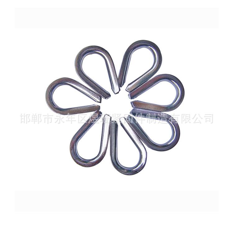 厂家直销不锈钢吊环鸡心环钢丝绳配件保护环保护套三角环批发