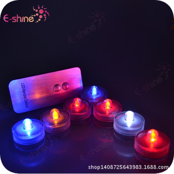 新款上市 工厂价格 高品质 七彩小夜灯 LED小遥控潜水灯