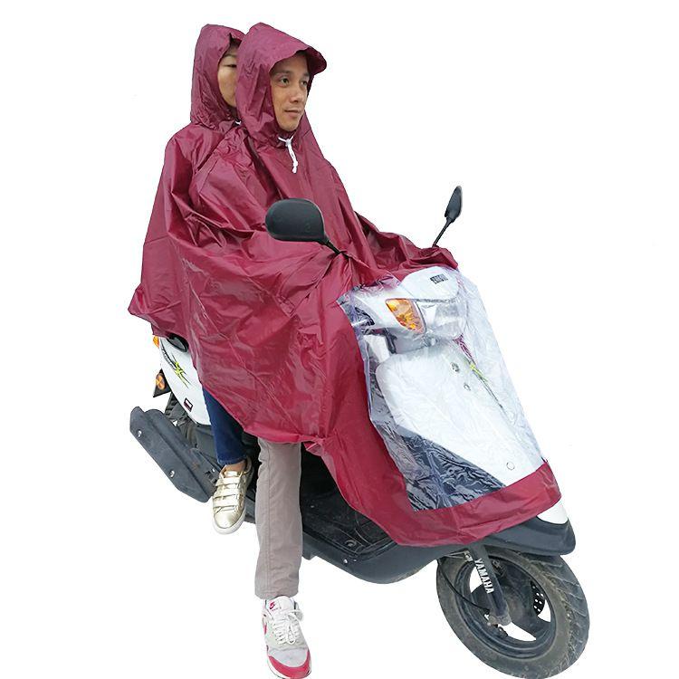 PVC生胶双人电动车雨衣电动摩托车PVC雨披