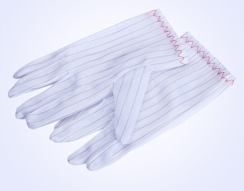 防静电手套 双面条纹手套无尘手套无菌洁净室手套电子厂适用男女