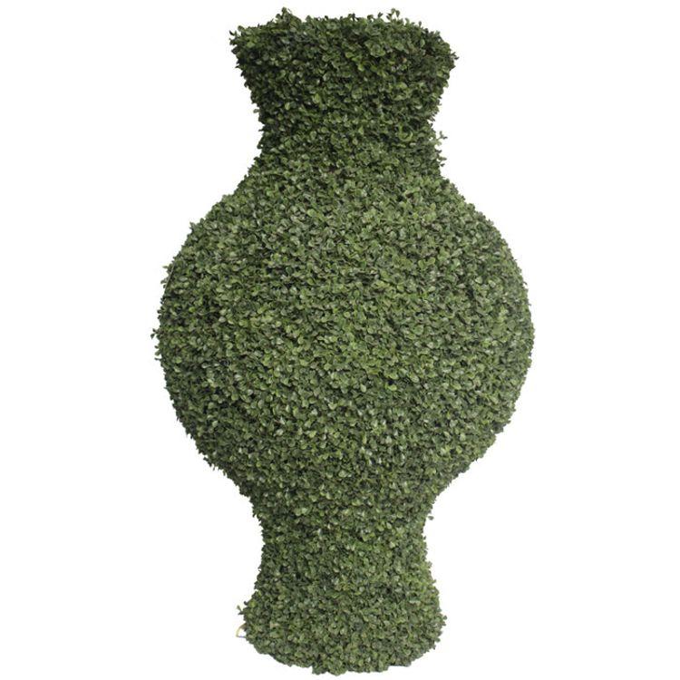 松涛仿真米兰草花盆 人造绿色造型植物 园林景观植物造型价格