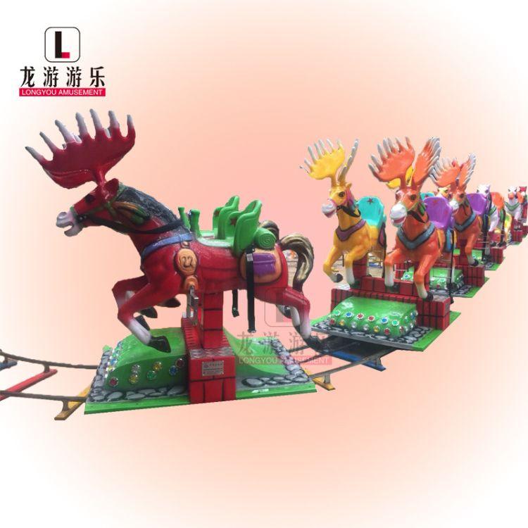 产地货源轨道小火车游乐设备儿童玩具欢乐跑马观光有轨小火车设施