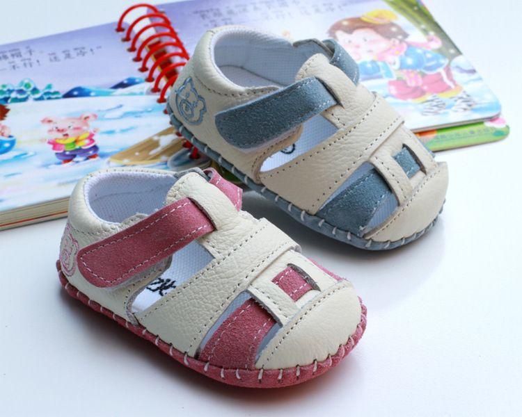 外贸德国原单婴儿凉鞋 柔软反牛肉磨砂皮学步鞋 男女宝宝鞋050