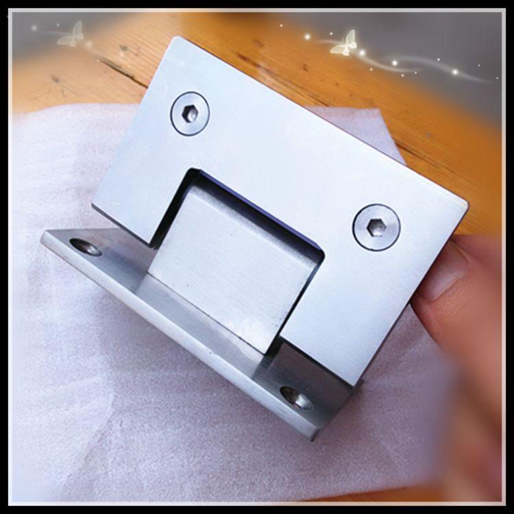 厂家直销 淋浴房浴室夹不锈钢玻璃门合页 90°玻璃夹 五金配件