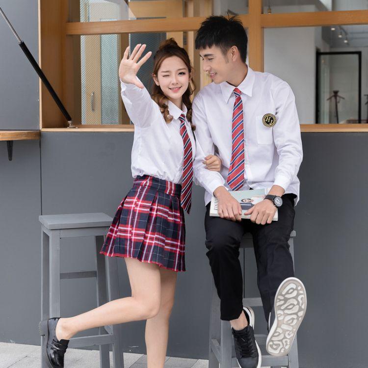班服秋季套装校服套装学生装制服两件套学生时尚高中生初中生韩版