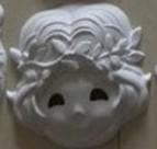 厂家直销_DI手绘环保纸浆面具------星座系列---处女座(手绘)