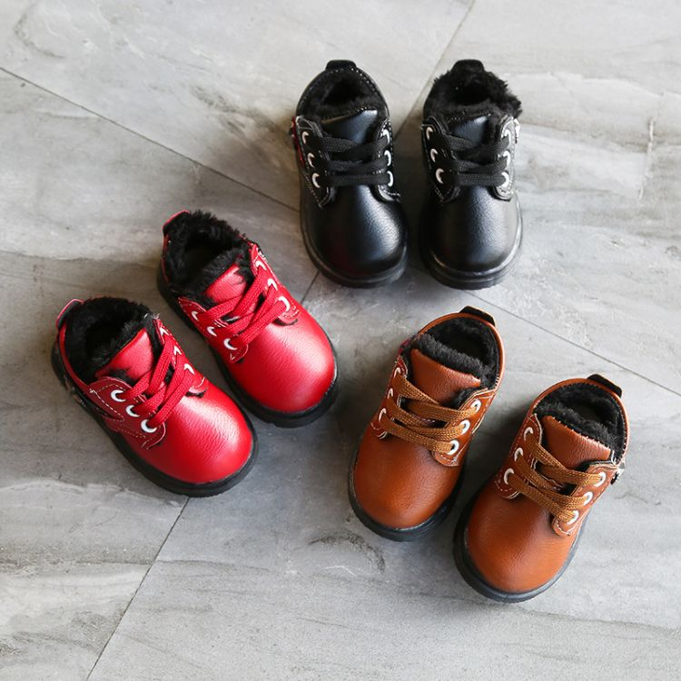 2018新款秋冬季宝宝棉鞋0-1岁3软底学步鞋防滑男女童保暖童鞋