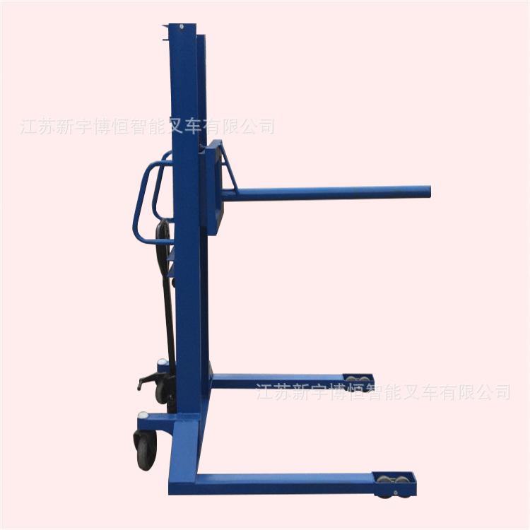 江苏圆筒型液压升高手推车 手动堆高搬运机 脚踏升降装卸叉车