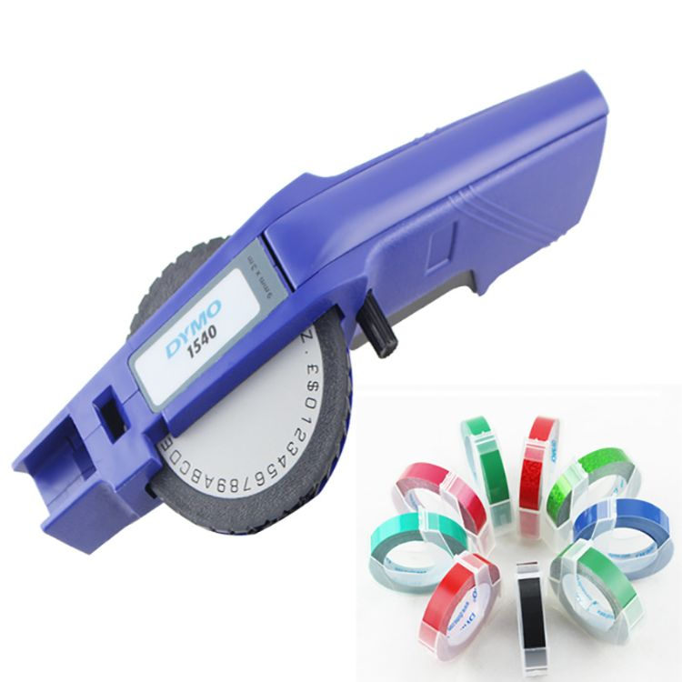 正品热销DYMO达美1540手动压纹标签机凹凸打字机立体3D效果打印机