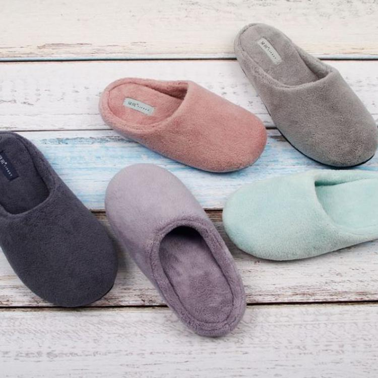 QL17绿风棉拖鞋厚底女冬季保暖室内家用情侣男居家防滑