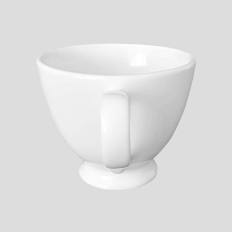 简圆厂价直销现货现代简约纯白色陶瓷马克杯可定制logo