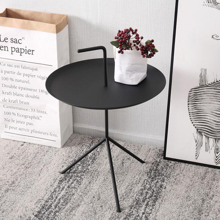 北欧小茶几ins铁艺金属角几丹麦简约现代移动沙发手提网红边几